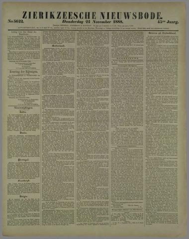 Zierikzeesche Nieuwsbode 1888-11-22
