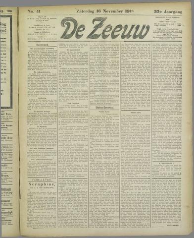De Zeeuw. Christelijk-historisch nieuwsblad voor Zeeland 1918-11-16