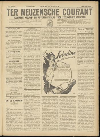 Ter Neuzensche Courant. Algemeen Nieuws- en Advertentieblad voor Zeeuwsch-Vlaanderen / Neuzensche Courant ... (idem) / (Algemeen) nieuws en advertentieblad voor Zeeuwsch-Vlaanderen 1934-06-22