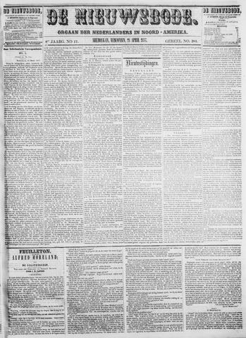 Sheboygan Nieuwsbode 1857-04-28