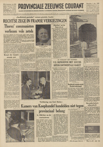 Provinciale Zeeuwse Courant 1958-12-01