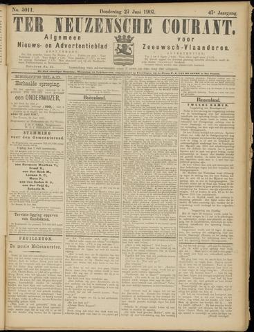Ter Neuzensche Courant. Algemeen Nieuws- en Advertentieblad voor Zeeuwsch-Vlaanderen / Neuzensche Courant ... (idem) / (Algemeen) nieuws en advertentieblad voor Zeeuwsch-Vlaanderen 1907-06-27