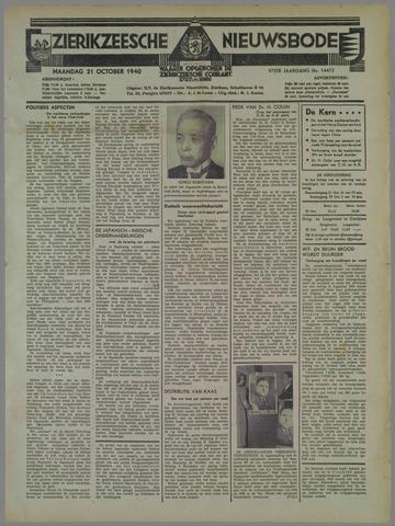 Zierikzeesche Nieuwsbode 1940-10-21