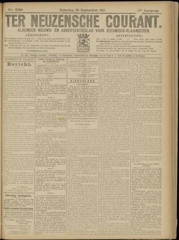 Ter Neuzensche Courant. Algemeen Nieuws- en Advertentieblad voor Zeeuwsch-Vlaanderen / Neuzensche Courant ... (idem) / (Algemeen) nieuws en advertentieblad voor Zeeuwsch-Vlaanderen 1917-09-29