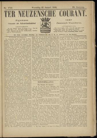 Ter Neuzensche Courant. Algemeen Nieuws- en Advertentieblad voor Zeeuwsch-Vlaanderen / Neuzensche Courant ... (idem) / (Algemeen) nieuws en advertentieblad voor Zeeuwsch-Vlaanderen 1882-01-25