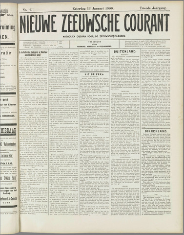Nieuwe Zeeuwsche Courant 1906-01-13