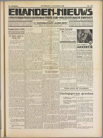 Eilanden-nieuws. Christelijk streekblad op gereformeerde grondslag 1938-10-01