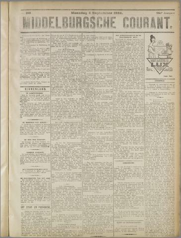 Middelburgsche Courant 1922-09-04