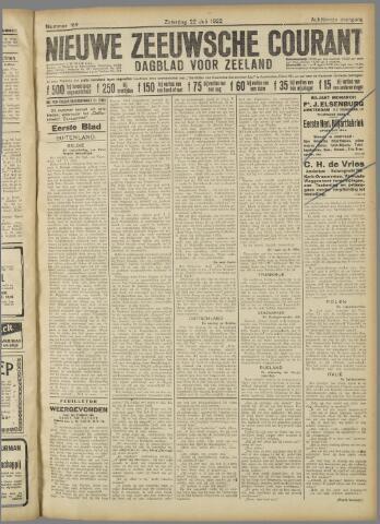 Nieuwe Zeeuwsche Courant 1922-07-22