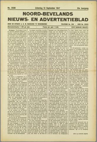 Noord-Bevelands Nieuws- en advertentieblad 1947-09-13