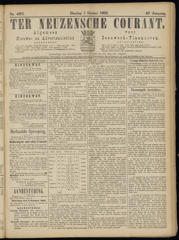 Ter Neuzensche Courant. Algemeen Nieuws- en Advertentieblad voor Zeeuwsch-Vlaanderen / Neuzensche Courant ... (idem) / (Algemeen) nieuws en advertentieblad voor Zeeuwsch-Vlaanderen 1902-10-07