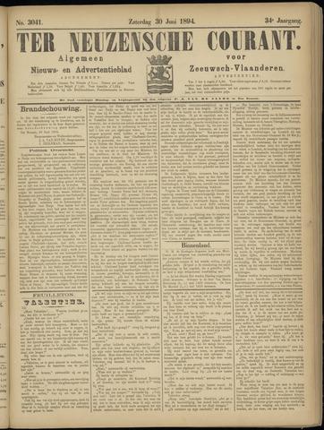 Ter Neuzensche Courant. Algemeen Nieuws- en Advertentieblad voor Zeeuwsch-Vlaanderen / Neuzensche Courant ... (idem) / (Algemeen) nieuws en advertentieblad voor Zeeuwsch-Vlaanderen 1894-06-30