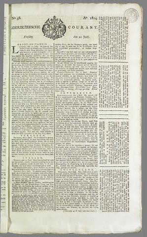 Zierikzeesche Courant 1814-07-22