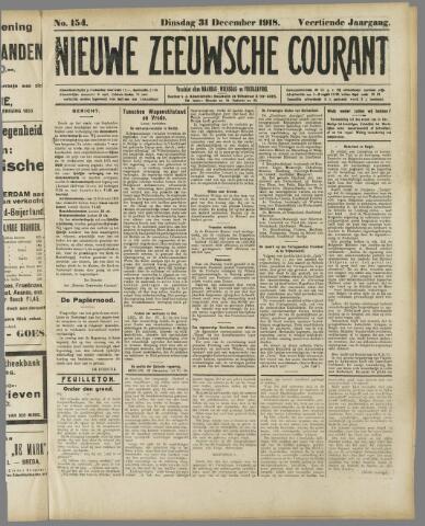 Nieuwe Zeeuwsche Courant 1918-12-31
