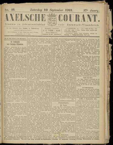 Axelsche Courant 1921-09-10