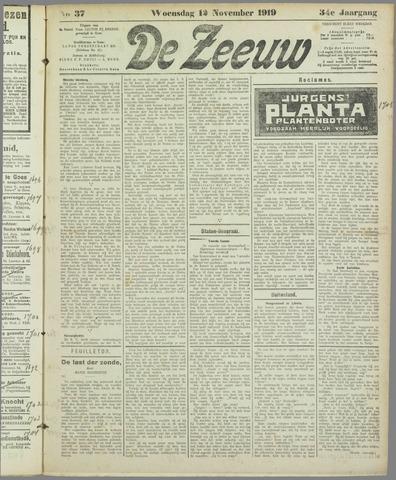 De Zeeuw. Christelijk-historisch nieuwsblad voor Zeeland 1919-11-12