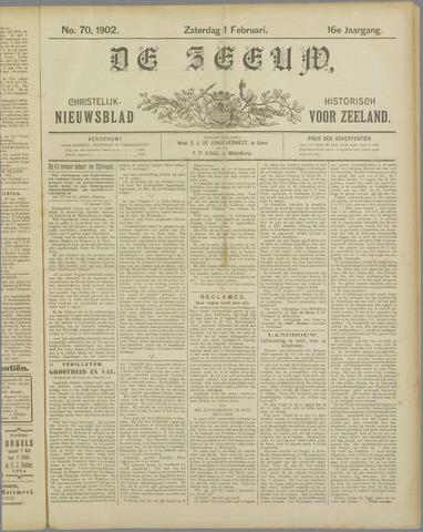 De Zeeuw. Christelijk-historisch nieuwsblad voor Zeeland 1902-02-01