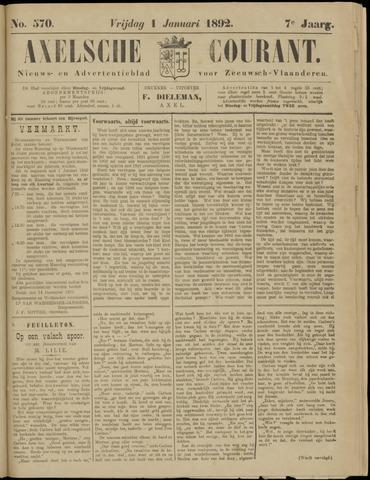 Axelsche Courant 1892