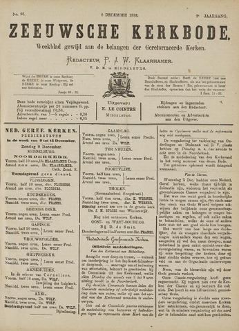 Zeeuwsche kerkbode, weekblad gewijd aan de belangen der gereformeerde kerken/ Zeeuwsch kerkblad 1888-12-08
