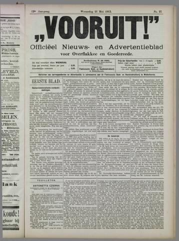 """""""Vooruit!""""Officieel Nieuws- en Advertentieblad voor Overflakkee en Goedereede 1913-05-21"""