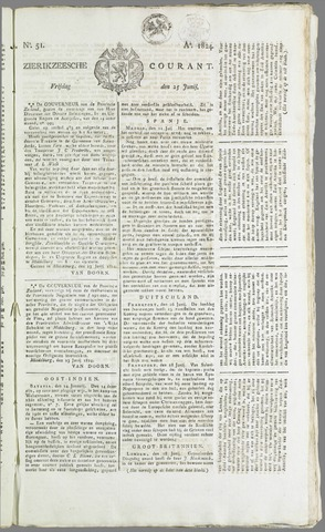 Zierikzeesche Courant 1824-06-25