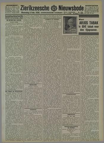 Zierikzeesche Nieuwsbode 1930-02-05