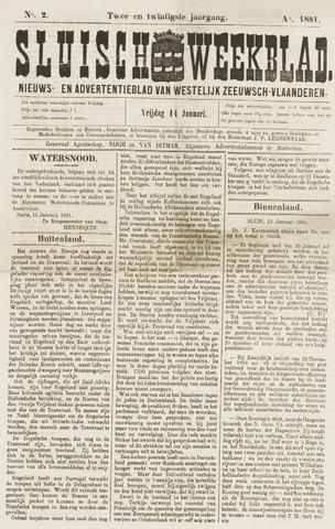 Sluisch Weekblad. Nieuws- en advertentieblad voor Westelijk Zeeuwsch-Vlaanderen 1881-01-14
