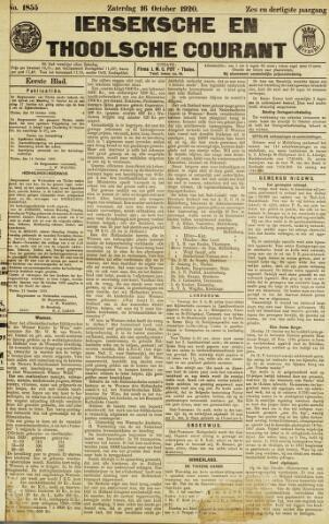 Ierseksche en Thoolsche Courant 1920-10-16
