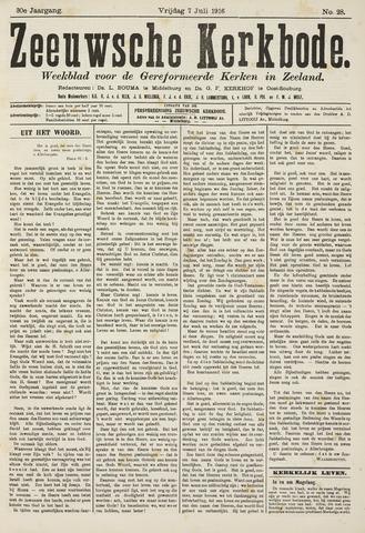 Zeeuwsche kerkbode, weekblad gewijd aan de belangen der gereformeerde kerken/ Zeeuwsch kerkblad 1916-07-07