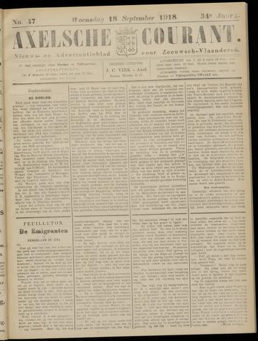 Axelsche Courant 1918-09-18