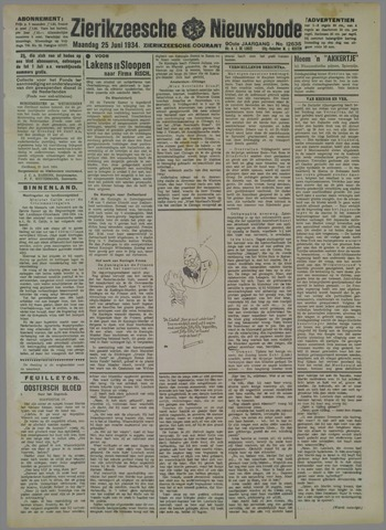 Zierikzeesche Nieuwsbode 1934-06-25