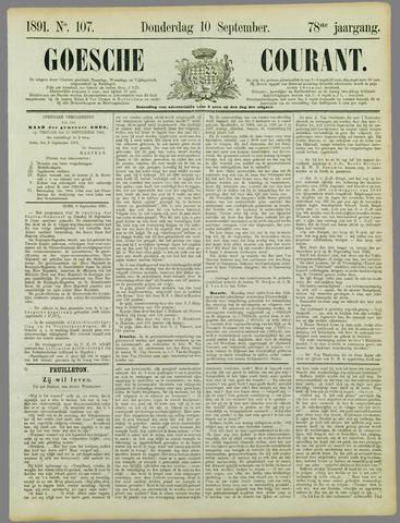 Goessche Courant 1891-09-10