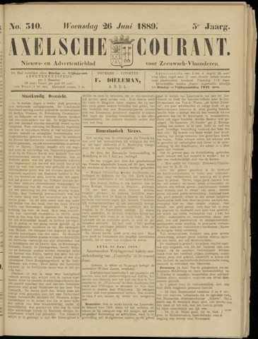 Axelsche Courant 1889-06-26