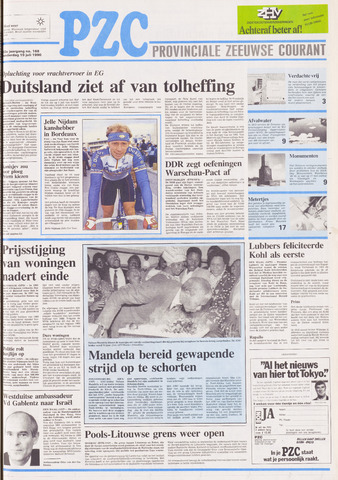 Provinciale Zeeuwse Courant 1990-07-19