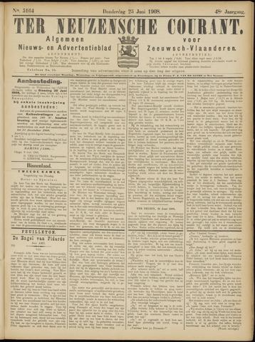 Ter Neuzensche Courant. Algemeen Nieuws- en Advertentieblad voor Zeeuwsch-Vlaanderen / Neuzensche Courant ... (idem) / (Algemeen) nieuws en advertentieblad voor Zeeuwsch-Vlaanderen 1908-06-25