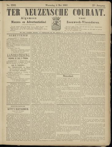 Ter Neuzensche Courant. Algemeen Nieuws- en Advertentieblad voor Zeeuwsch-Vlaanderen / Neuzensche Courant ... (idem) / (Algemeen) nieuws en advertentieblad voor Zeeuwsch-Vlaanderen 1887-05-04
