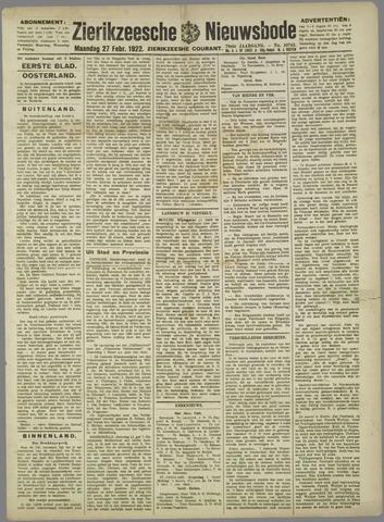 Zierikzeesche Nieuwsbode 1922-02-27