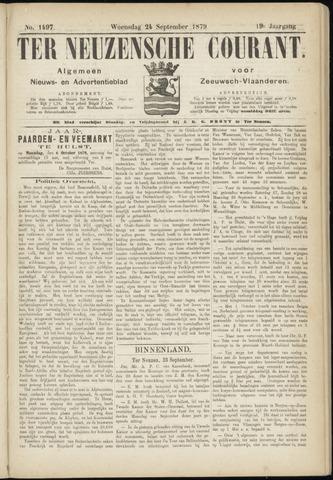 Ter Neuzensche Courant. Algemeen Nieuws- en Advertentieblad voor Zeeuwsch-Vlaanderen / Neuzensche Courant ... (idem) / (Algemeen) nieuws en advertentieblad voor Zeeuwsch-Vlaanderen 1879-09-24