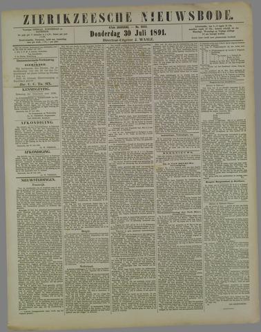 Zierikzeesche Nieuwsbode 1891-07-30