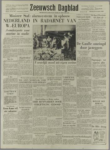 Zeeuwsch Dagblad 1958-11-25