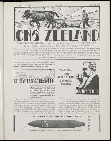 Ons Zeeland / Zeeuwsche editie 1927-05-14