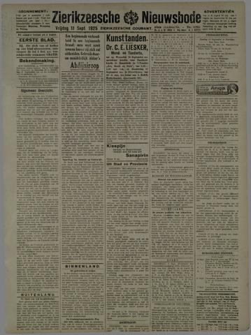 Zierikzeesche Nieuwsbode 1925-09-11