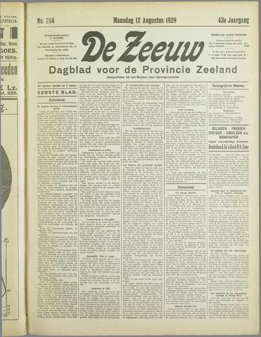 De Zeeuw. Christelijk-historisch nieuwsblad voor Zeeland 1929-08-12