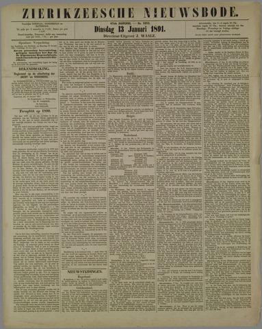 Zierikzeesche Nieuwsbode 1891-01-13