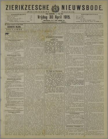 Zierikzeesche Nieuwsbode 1915-04-30