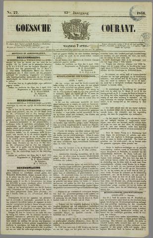 Goessche Courant 1856-04-07