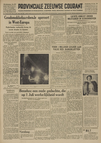 Provinciale Zeeuwse Courant 1949-10-20
