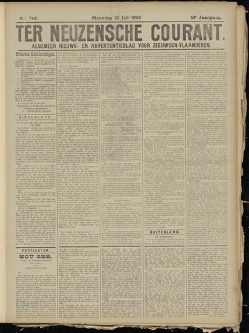 Ter Neuzensche Courant. Algemeen Nieuws- en Advertentieblad voor Zeeuwsch-Vlaanderen / Neuzensche Courant ... (idem) / (Algemeen) nieuws en advertentieblad voor Zeeuwsch-Vlaanderen 1923-07-23