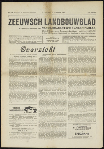 Zeeuwsch landbouwblad ... ZLM land- en tuinbouwblad 1953-10-31