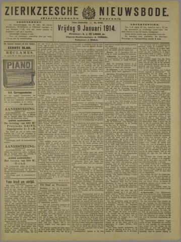 Zierikzeesche Nieuwsbode 1914-01-09